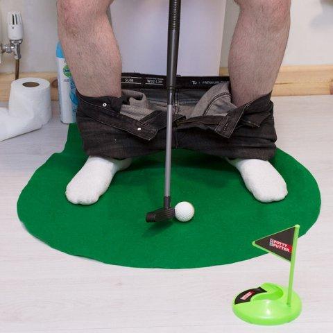 Домашний гольф для туалета в подарок парню