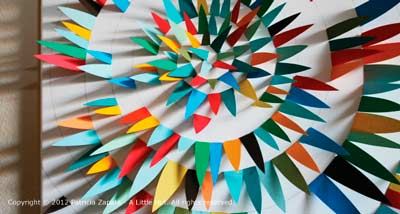 Подарок своими руками на день рождения - картина из цветной бумаги 5
