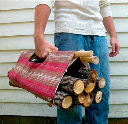 Сумка для дров - подарок папе на день рождения