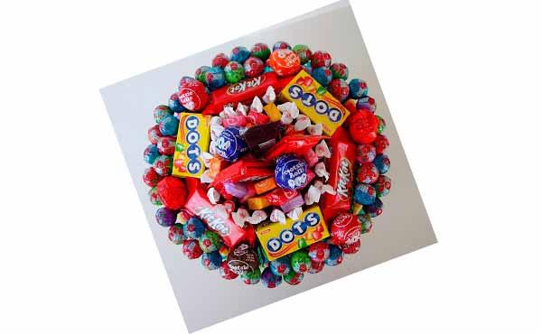 Конфетный торт - подарок подреге на день рождения, шаг 7