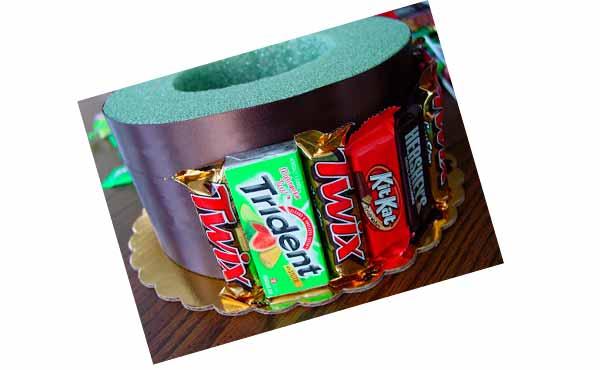 Конфетный торт - подарок подреге на день рождения, шаг 4