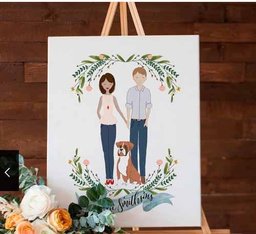 Семейный портрет на годовщину свадьбы