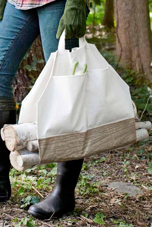 Подарок папе своими руками-сумка для дров