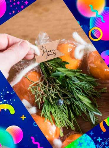 Мандариновый венок - подарок своими руками маме 4а