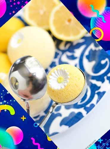 Лимонные бомбочки для ванны в подарок маме своими руками 2