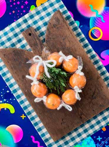 Мандариновый венок - подарок своими руками маме 4б