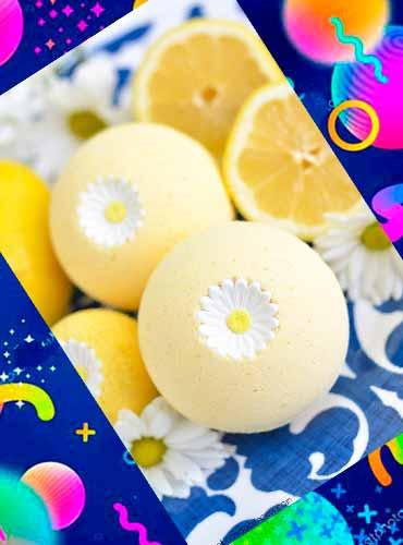 Лимонные бомбочки для ванны в подарок маме своими руками