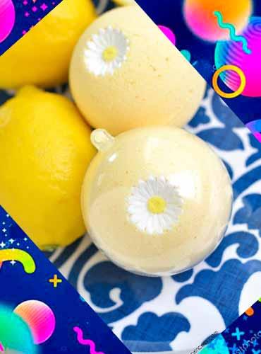 Лимонные бомбочки для ванны в подарок маме своими руками 1