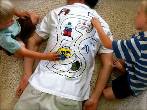 футболка для папы своими руками