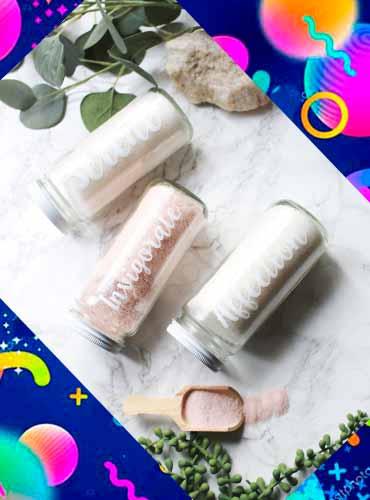 Соль для ванны в подарок своими руками