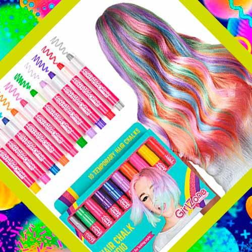 Подарок на день рождения девочке - мелки для волос