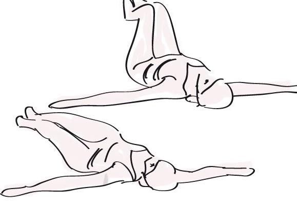 Упражнение для похудения дома на спину и косые мышцы живота