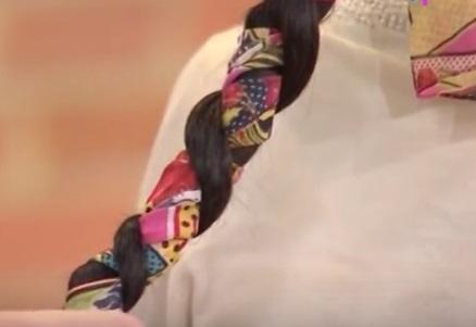 Как сделать низкую причёску с шарфом своими руками
